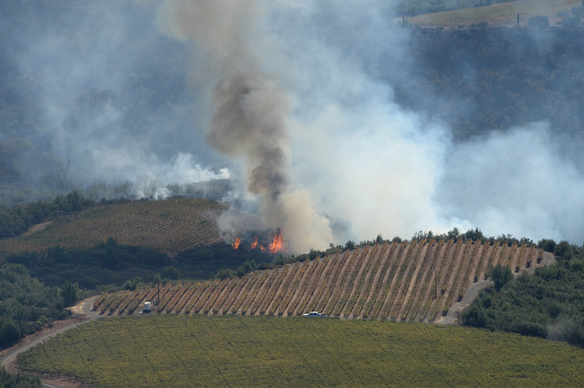 fires in Santa Rosa, photo California National Guard