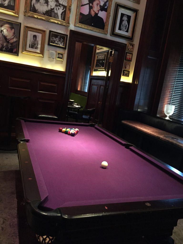 billiard room at Clocktower, photo by Amanda Schuster