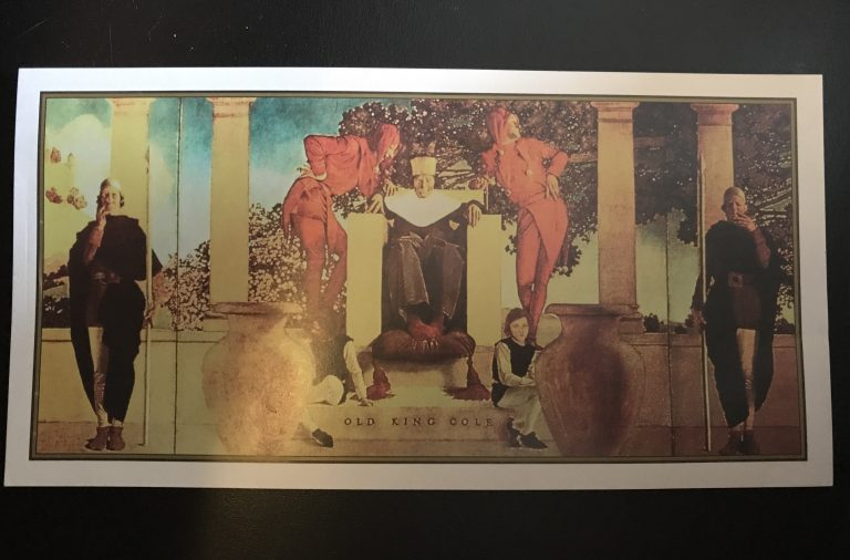 postcard of the King Cole mural, photo by Amanda Schuster