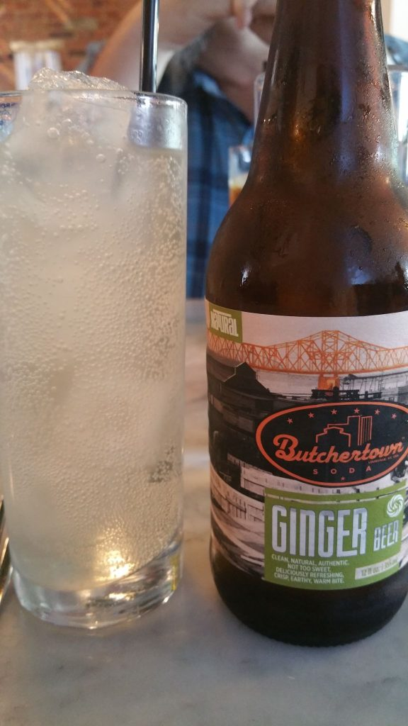 Bourbon and ginger with Butchertown ginger beer