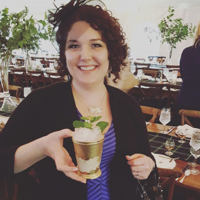 Maggie Kimberl enjoys a refreshing Mint Julep when the weather heats up