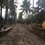 walkway on the hacienda