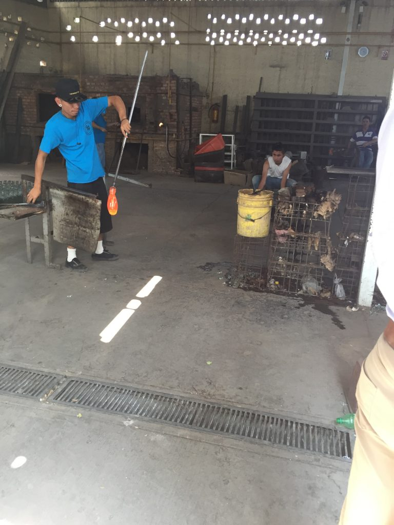 the glass blowing facility that makes Fortaleza bottles, among others