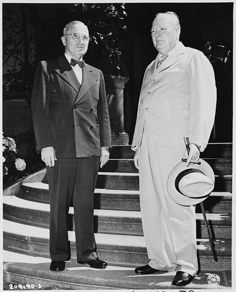 President Truman with Churchill
