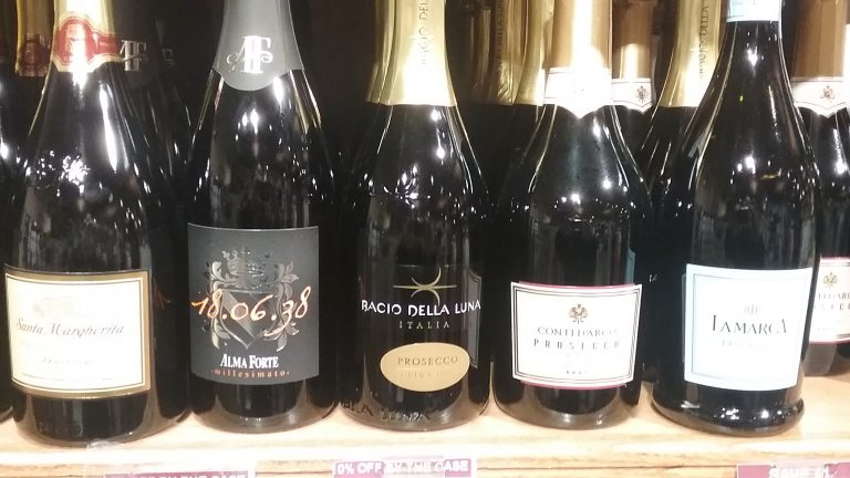 Prosecco at Stew Leonard's wine store, photo by Bernard Kenner