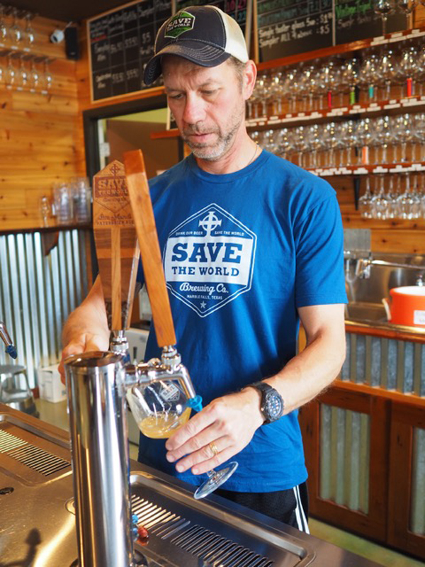 Dave Rathkamp, co-owner of Save the World Brewing