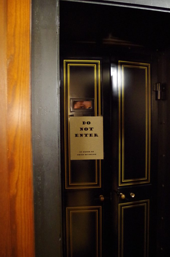 Evan Williams Experience speakeasy entrance, photo by Maggie Kimberl