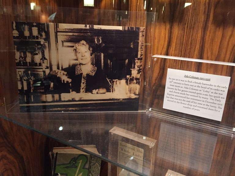 Ada Coleman's photo on display at the Savoy, photo by Amanda Schuster