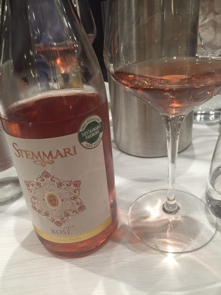Stemmari rosé paired well with almost everything we ate.