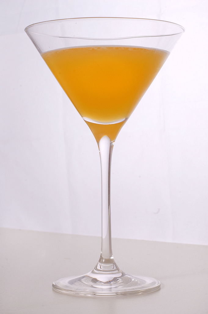 a bronx cocktail in martini glass