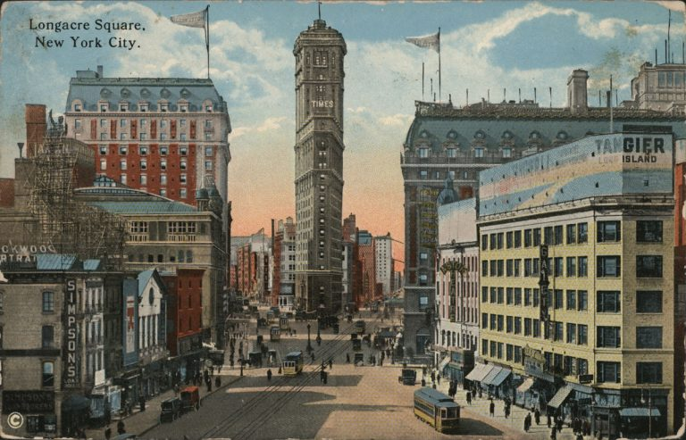 vintage postcard of the Knickerbocker hotel