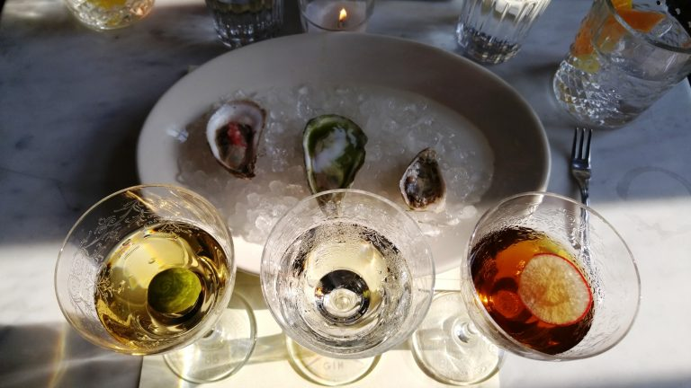 Fords Gin Martinis & oysters at Seaworthy, Ace Hotel. Photo by Jake Emen.