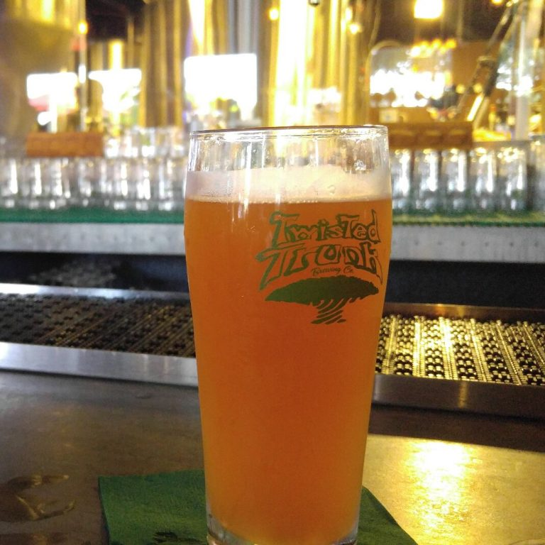 Twisted Trunk beer poured for Phil Galewitz