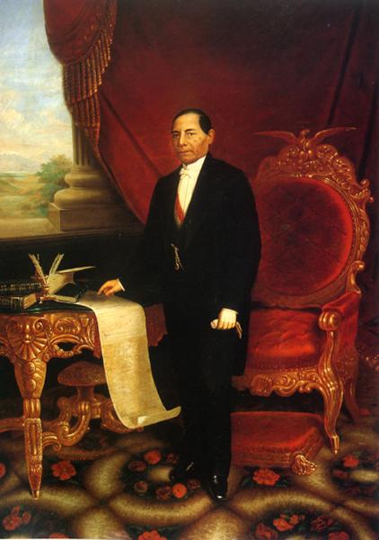 Official portrait of Benito Juárez by José Escudero y Espronceda via Wikipedia
