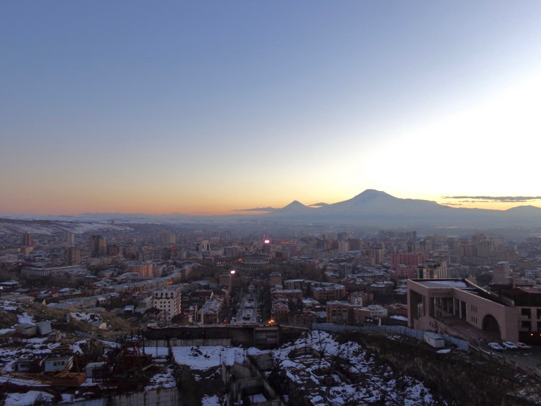 Yerevan and Mt. Ararat, photo by Hannah Walhout