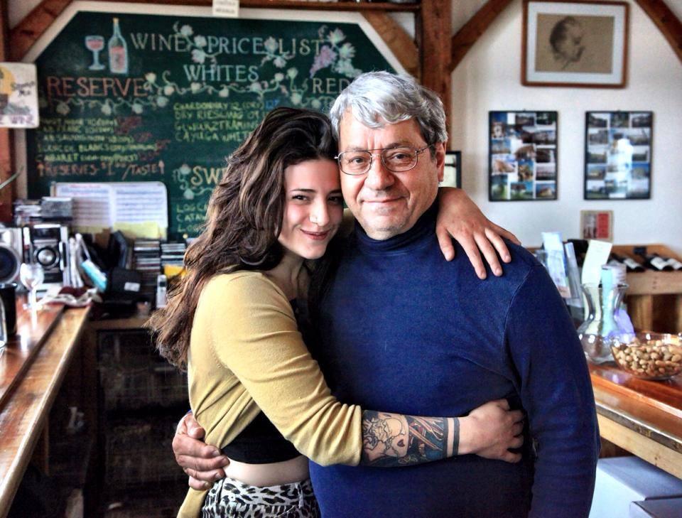 Liz Leidenfrost and her father/mentor - John, courtesy Leidenfrost Vineyards