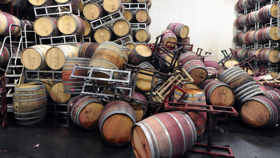 Barrels Are Strewn About Inside The Storage Room Of Bouchaine Vineyards In  Napa On August 24