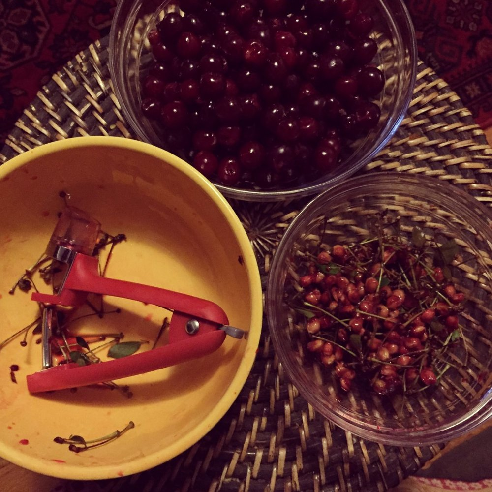 A cherry pitter is a worthwhile investment!