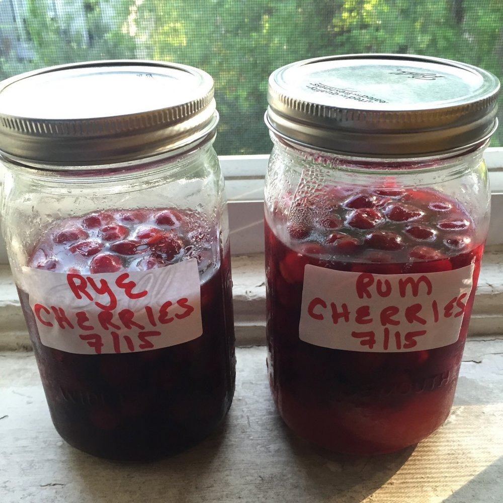 rum and rye cherries 2015