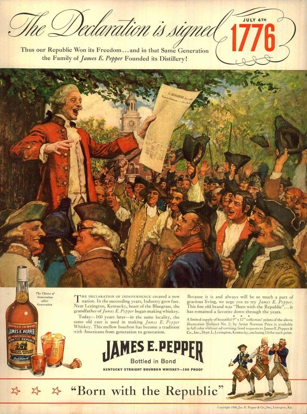 James E. Pepper, 1940
