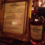 Old Forester 1870 featured in the Seelbach Rathskeller
