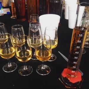 mingling bourbon at Bulleit