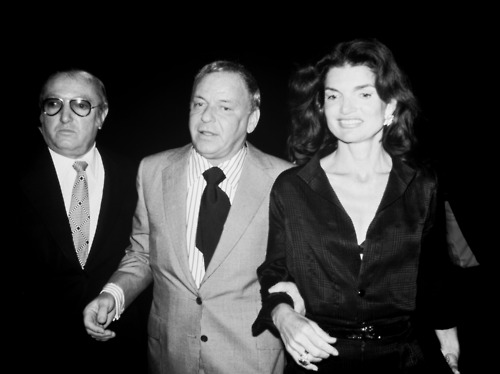 Jilly and Frank with their pal Jackie O.