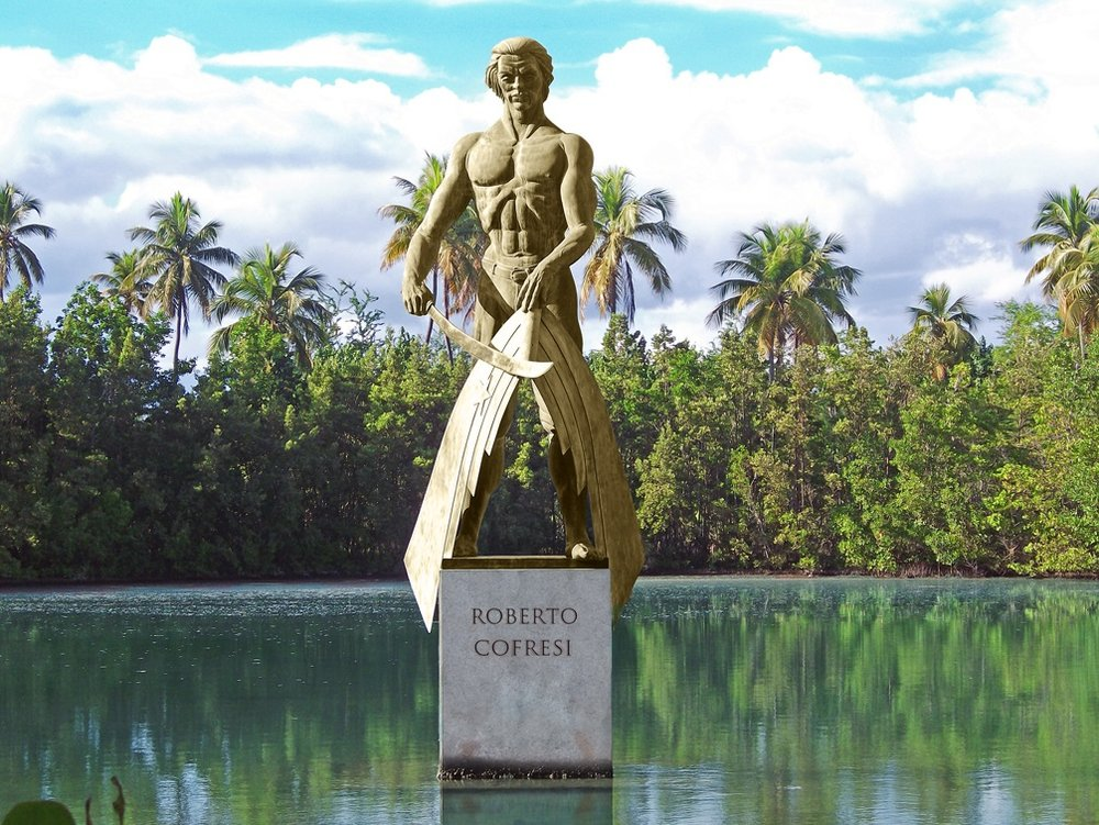 Statue of Pirate Captain Roberto Cofresí by Jerjes Medina Albino