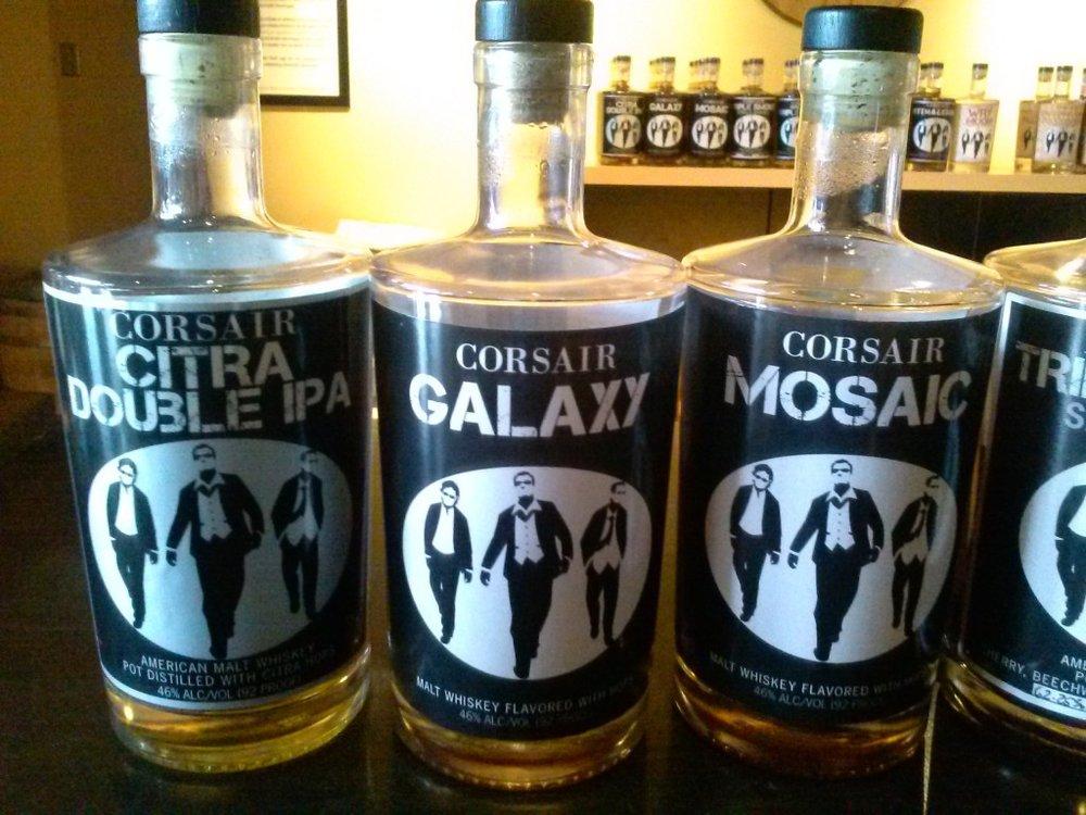 Corsair Hops Whiskeys