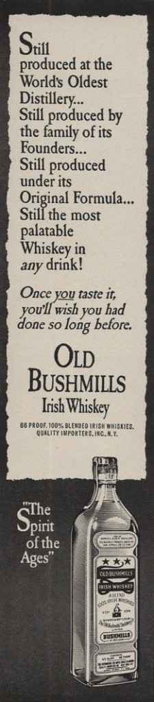 Bushmills, 1962