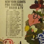 New York Giants schedule from Ballantine, 1962