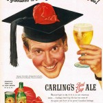 Burgess Meredith for Carling's Red Cap Ale, 1950