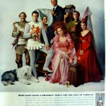 Moss Hart and the cast of Camelot for Smirnoff, 1961