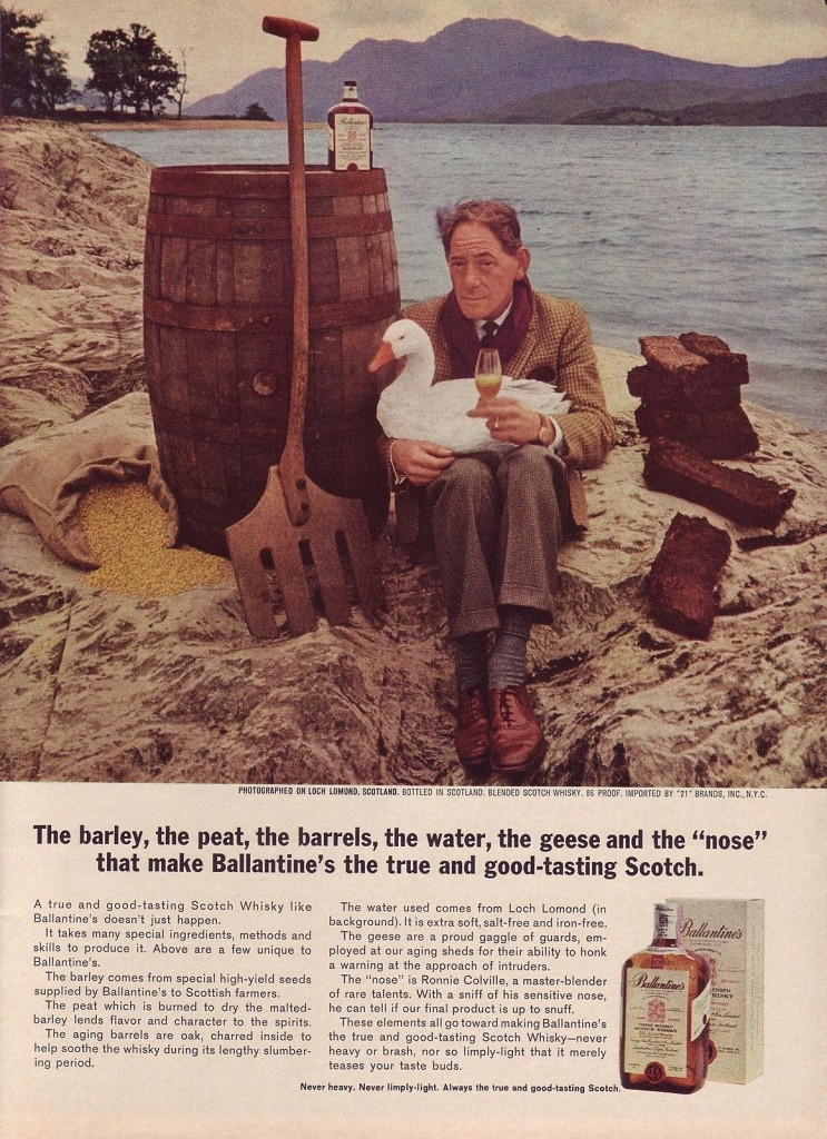 Ballantine's Scotch, 1963