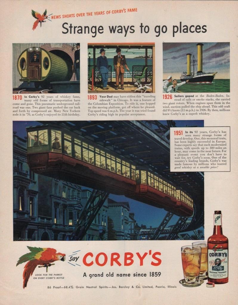 Corby's, 1951