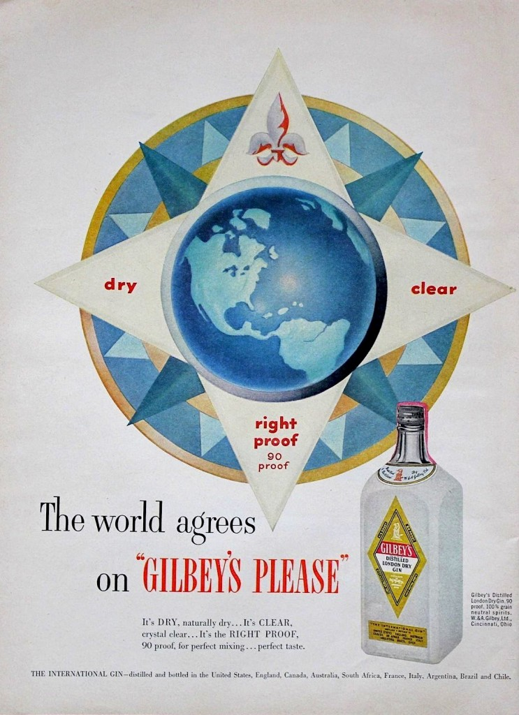 Gilbey's Gin, 1952