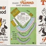 The 1972 Minnesota Twins schedule, courtesy of Hamm's Beer