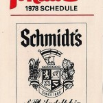 The 1978 Philadelphia Phillies schedule, from Schmidt's Beer