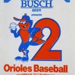 Busch-sponsored Baltimore Orioles schedule, 1980