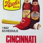 A 1982 Cincinnati schedule from Stroh's