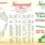 Narragansett's 1969 Boston Red Sox schedule