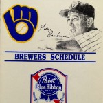 Pabst's schedule for the Milwaukee Brewers, 1985