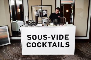 AJ Schaller serves up Sous-Vide Spiked Frosty Cappuccinos at Daniel, photo courtesy Cuisine Solutions