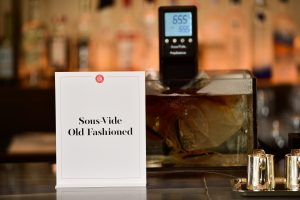 Marcie Anderson's Sous-Vide Old Fashioned in process at Restaurant Daniel, photo via Cuisine Solutions