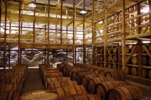 inside the Maker's Mark aging cave