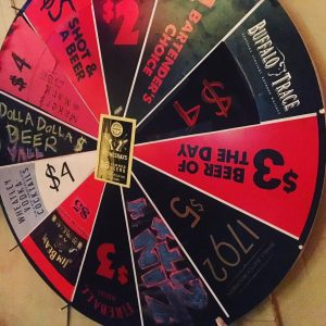 order great bourbon a la carte or test your luck on the wheel at the Pear, photo by Sara Havens