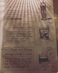 menu page at Patent Pending, photo by Amanda Schuster