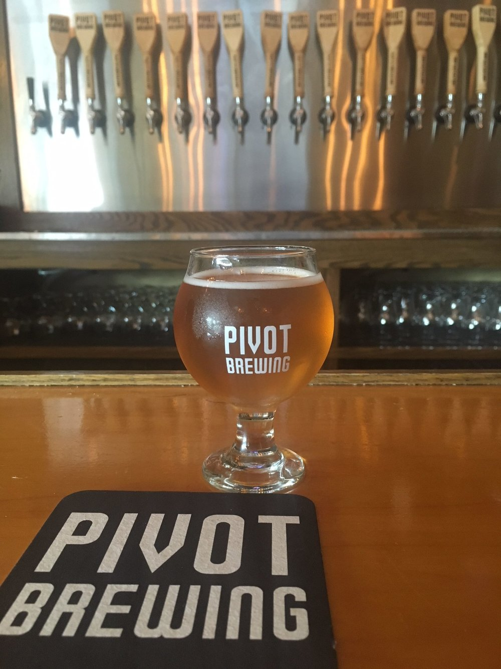barrel-aged Fincastle at Pivot Brewery