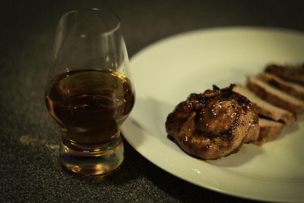 BBQ pork and rye whiskey