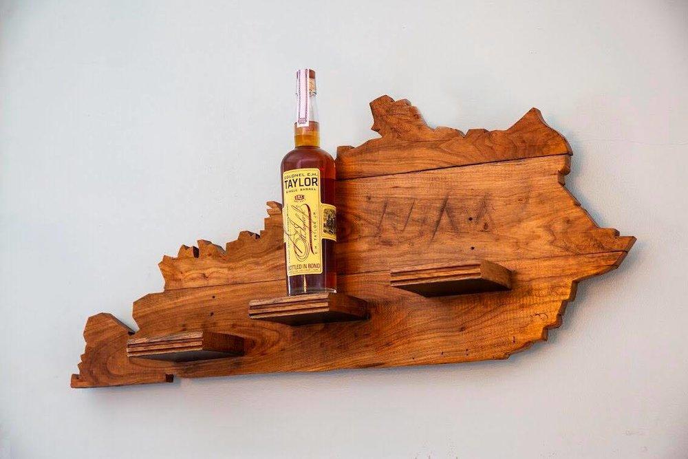 courtesy of Drunkwood, who also make this bourbon barrel shelf